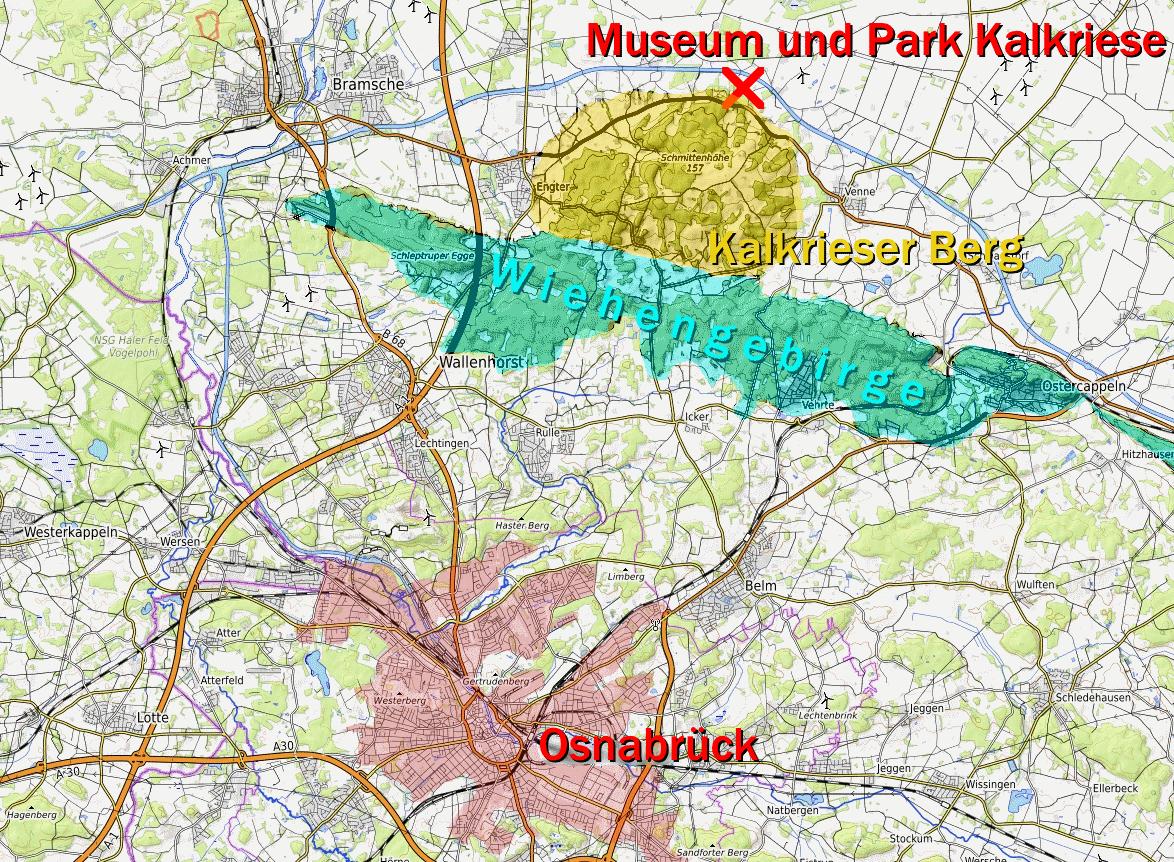 Varusschlacht Karte.Fundregion Kalkriese Wikipedia