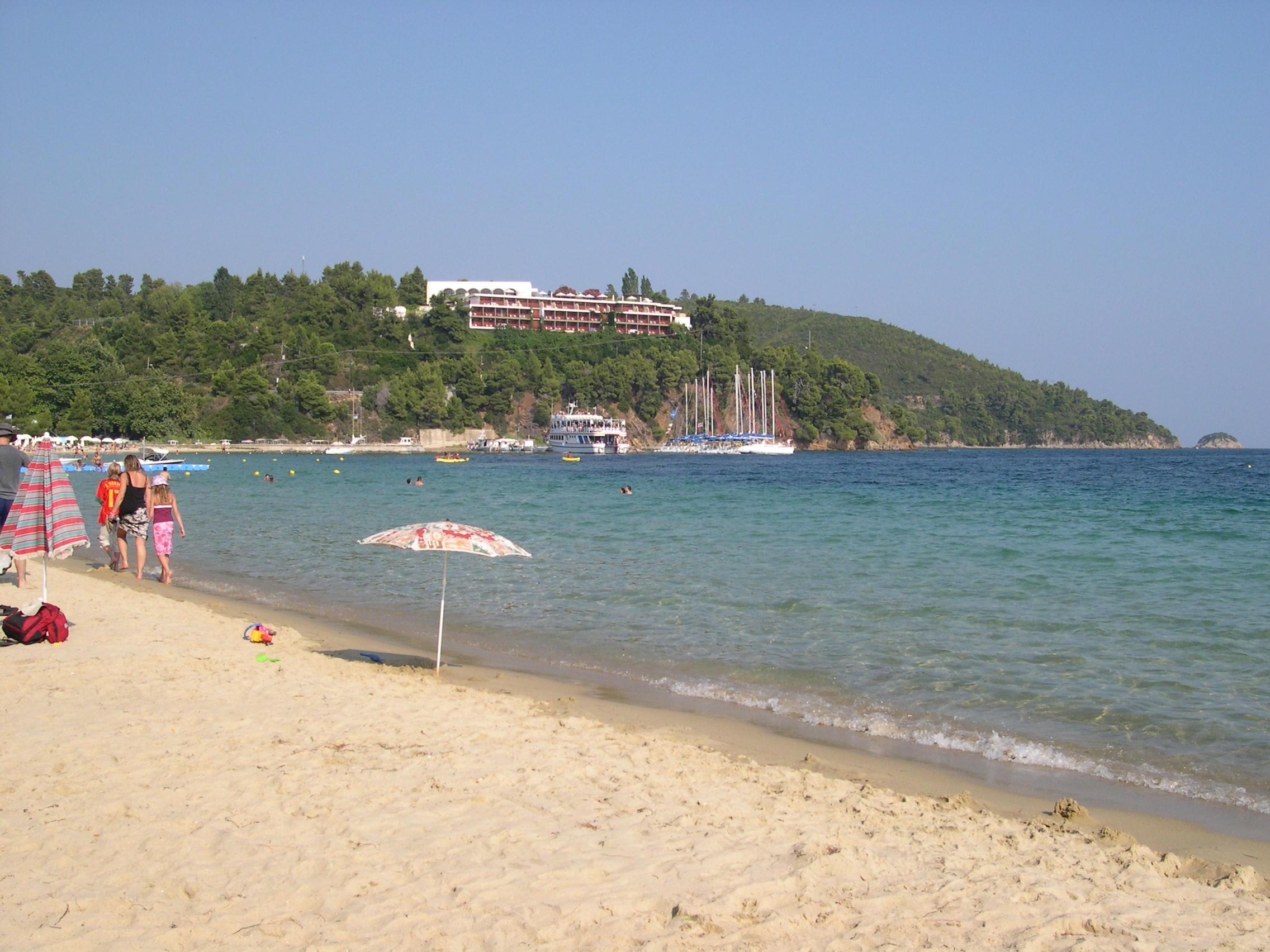 The family friendly Koukounaries beach on Skiathos