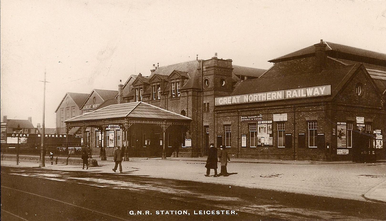 File Leicester Belgrave Road Station Postcard Jpg