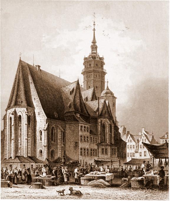 Iglesia de San Nicolás en (1850), (Leipzig).