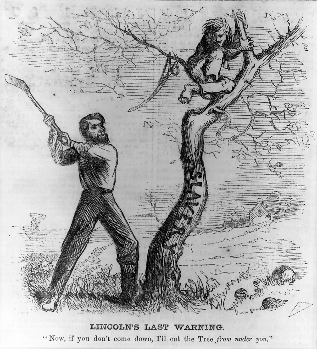 Cartoon, Lincoln's provisional emancipation proclamation, Harper's Weekly, October 11, 1862