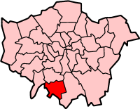 Sutton London, map
