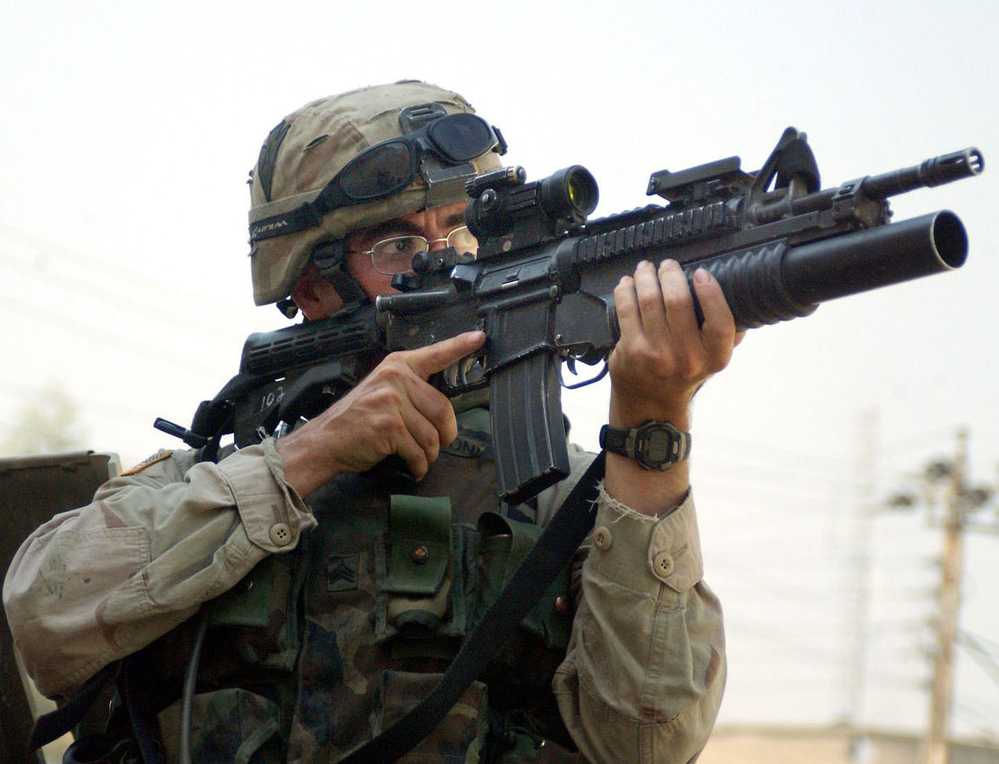 File:M4-M203.jpg - Wikimedia Commons M14 Sniper Rifle Usmc