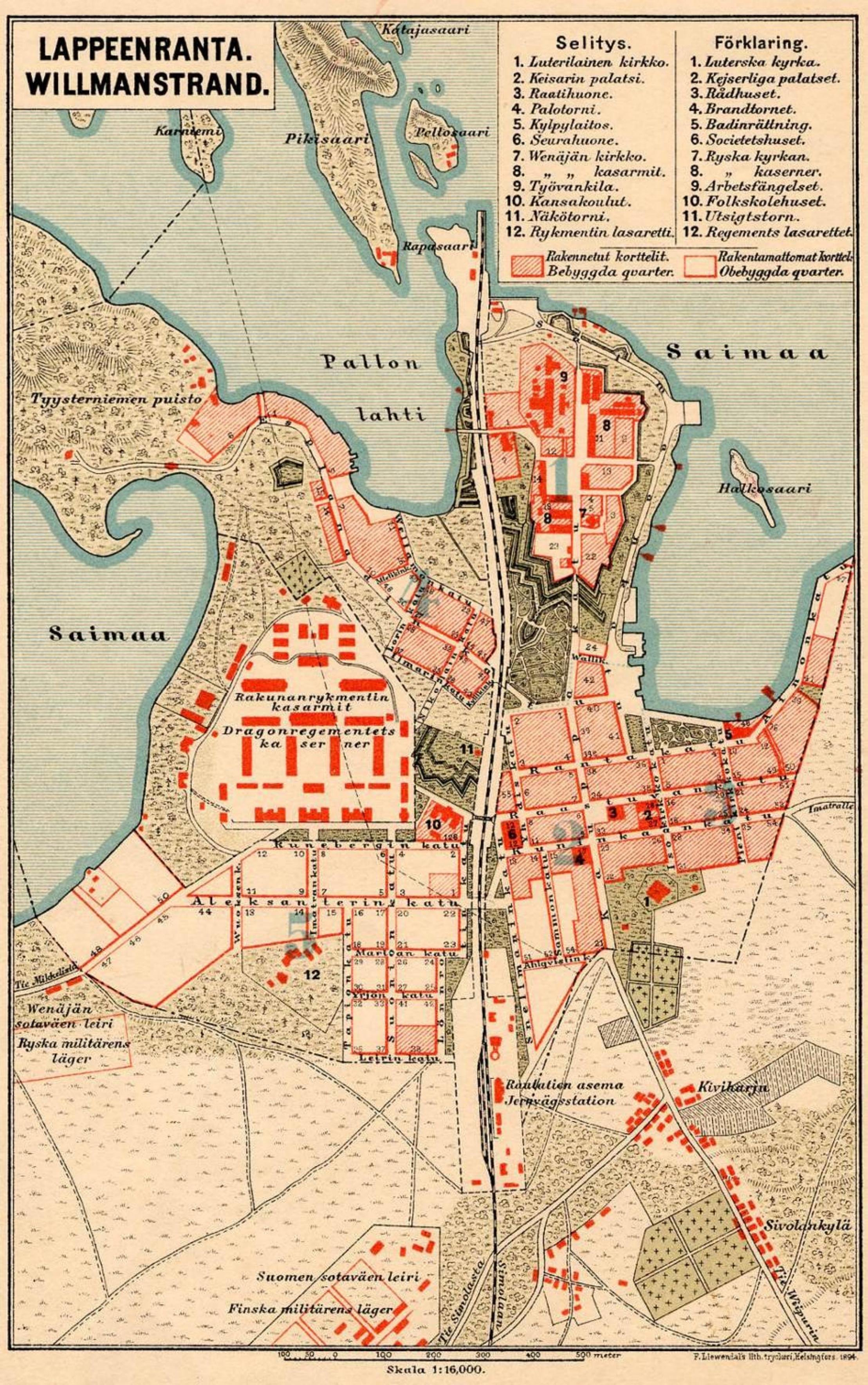 FileMap of Lappeenranta 1894jpg Wikimedia Commons
