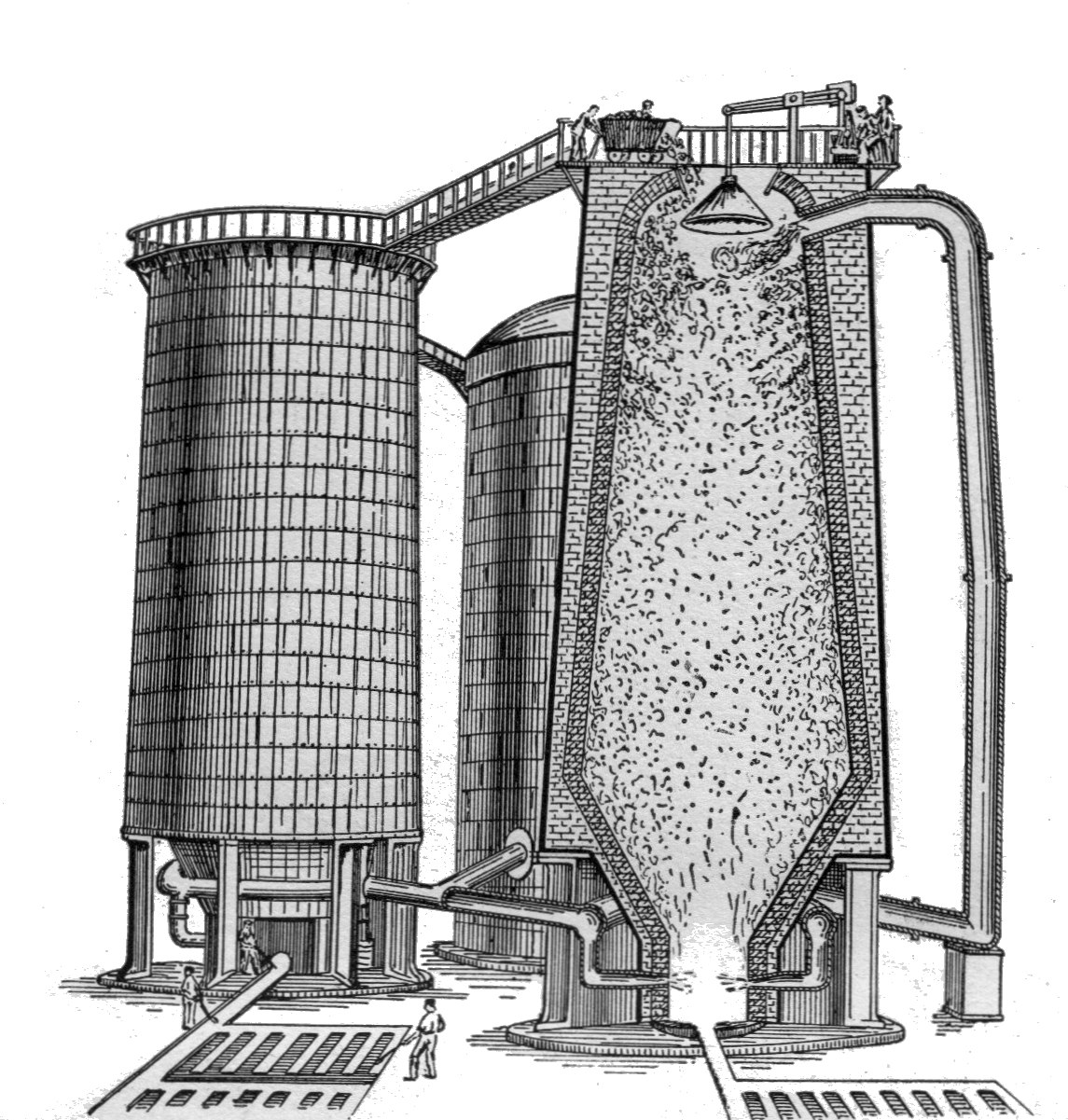 blast furnace A blast furnace is a type of metallurgical furnace used for smelting to produce industrial metals, generally iron in a blast furnace, fuel and ore are continuously.