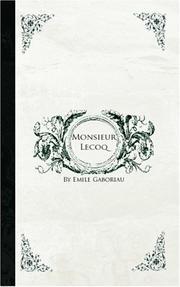 Monsieur Lecoq cover