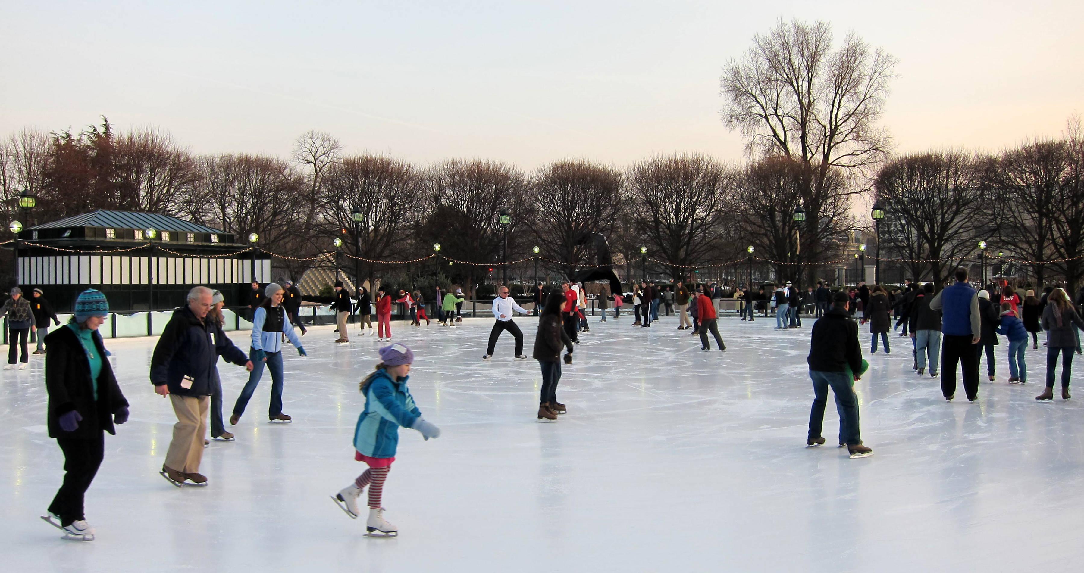 National Gallery of Art Sculpture Garden Ice Rink JPG