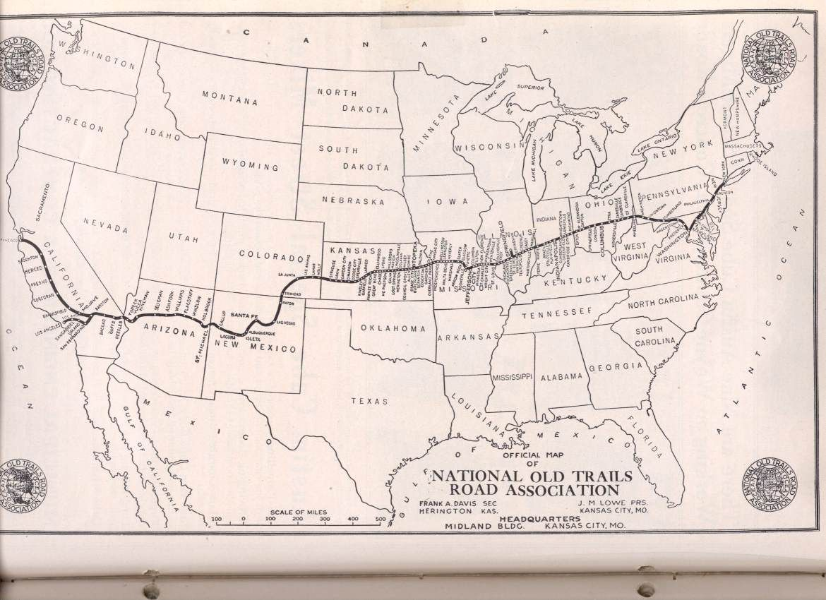 Roads Routes To New Mexico Arizona Texas California - Map of us trail lines