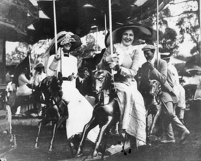 File:On the Merry-go-round at Deepwater Races - Deepwater, NSW, c. 1910 G Robertson-Cuninghame from The State Library of New South Wales.jpg