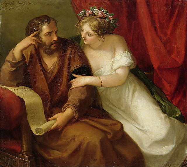 phryne tries to seduce xenocrates
