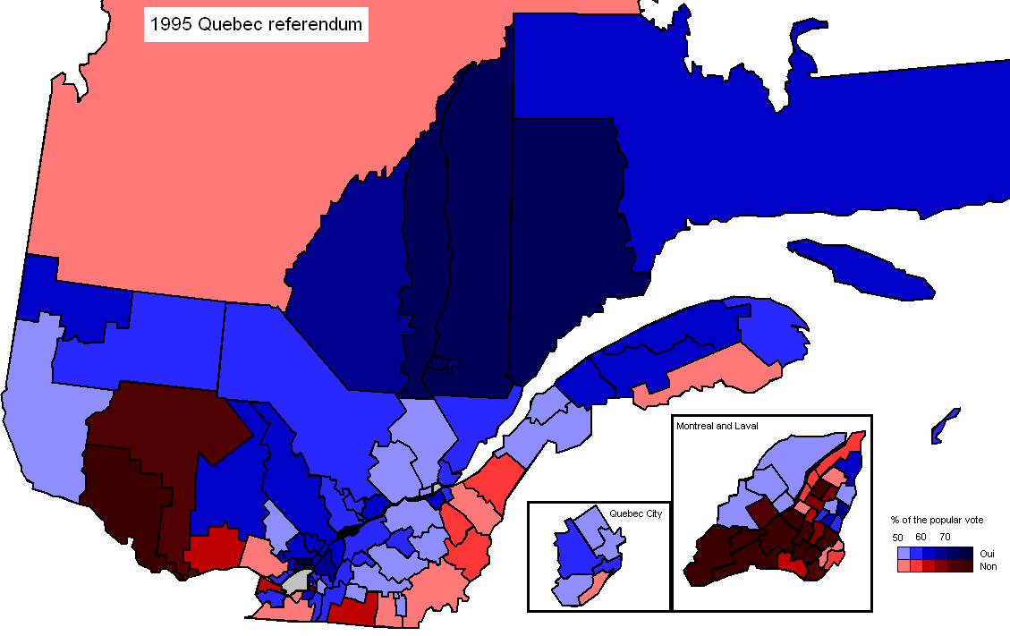 Quebec Referendum by Riding