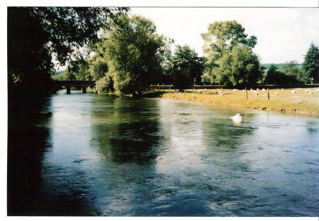 River Wylye at Stoford - geograph.org.uk - 317478