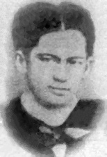 [Rizal as a student at the University of Santo Tomas.]