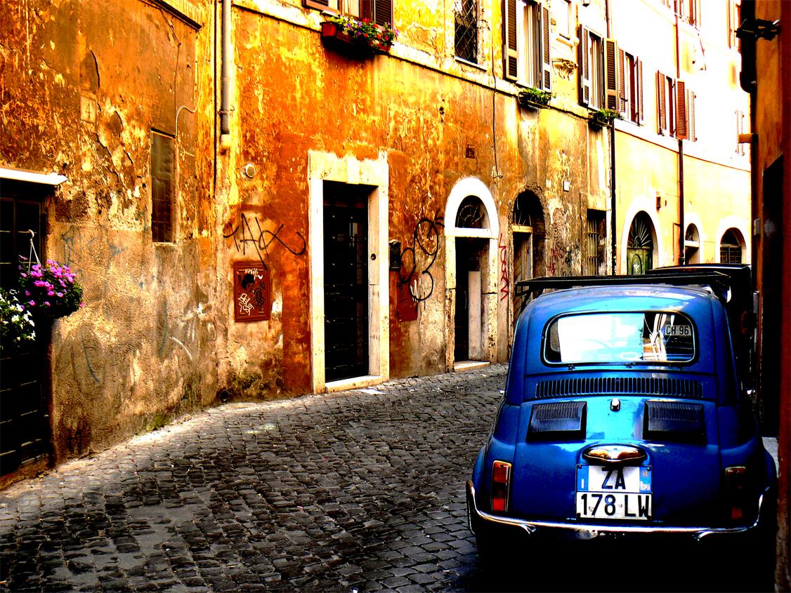 Ruelle du charmant quartier romain de Trastevere : Une bonne raison de venir à Rome depuis le Sud-ouest de la France. Photo de Mozzercork @ Flickr