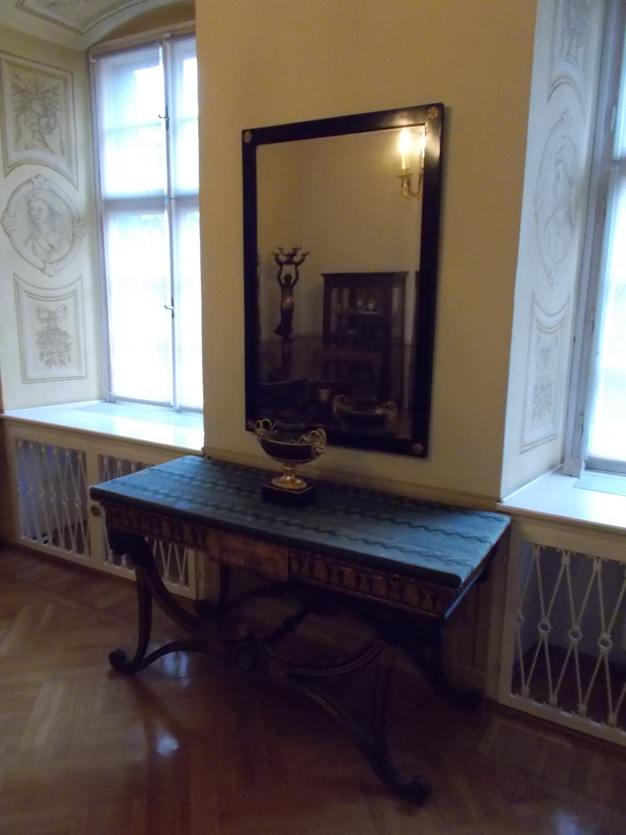 R 24. Wall Mirror And Console Table, Cca 1810