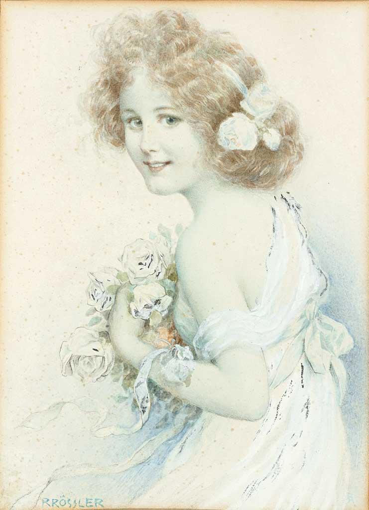 Рудольф Рёсслер Mädchenportrait mit Rosenstrauß.jpg