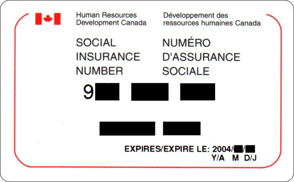 national insurance card template  Social Insurance Number - Wikipedia