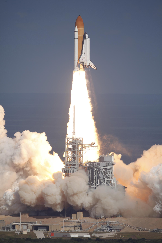 Shuttle Atlantis Takeoff Space Shuttle Atlantis