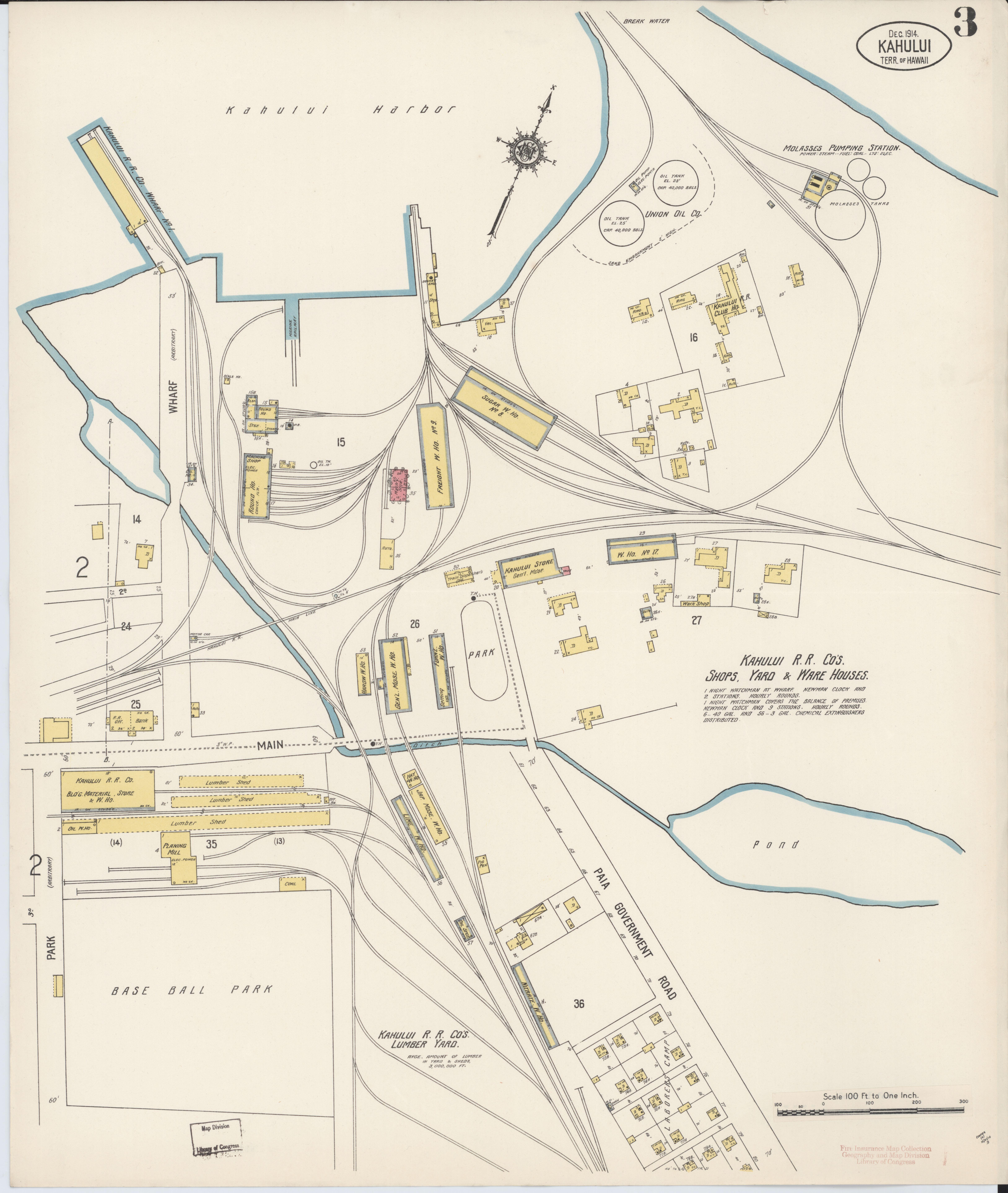 Kahului Hawaii Map.File Sanborn Fire Insurance Map From Kahului Maui County Hawaii