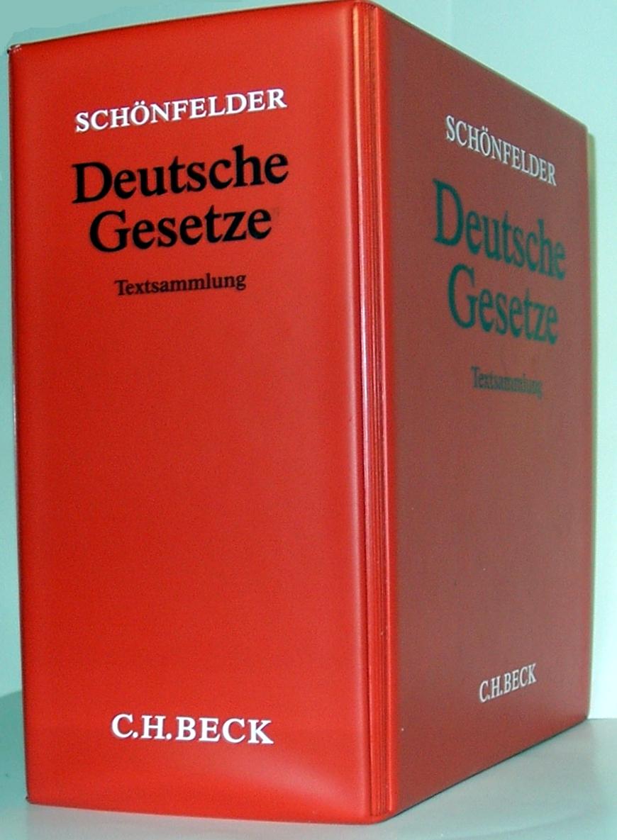Schönfelder - Deutsche Gesetze. Textsammlung (C H Beck).jpg