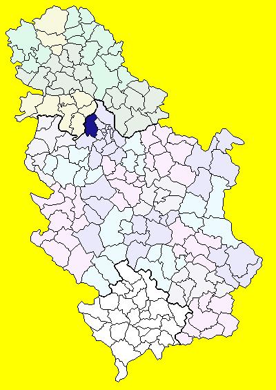 surcin mapa Opština Surčin   Wikipedia surcin mapa