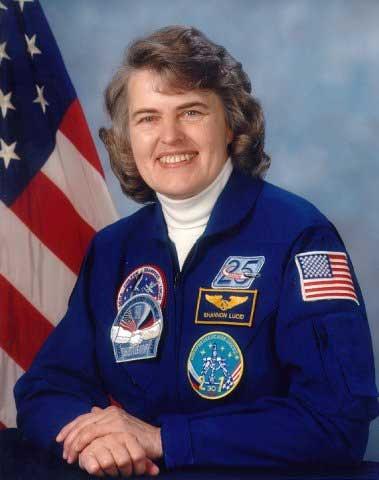 Astronaut Shannon Lucid, NASA photo Source: Wikipedia (NASA site unavailable (Jan. 2019)) ShannonLucid.jpeg