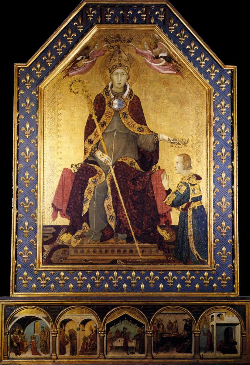 Simone Martini (ca 1284-1344): Altertavle for Ludvig av Toulouse (ca 1317), Nasjonalmuseet i Capodimonte i Napoli
