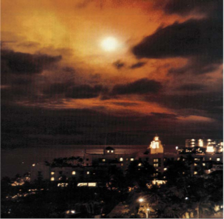View of the Starfish Prime nuclear test from Honolulu