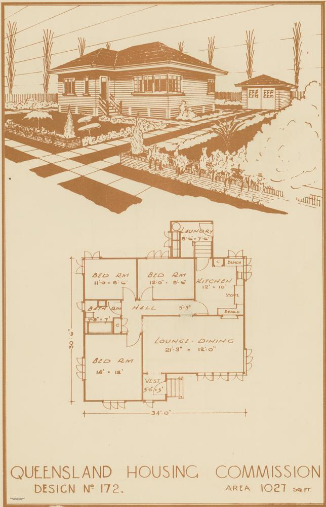 File:StateLibQld 2 228954 Drawing And Floor Plan Of House Design No.172 From