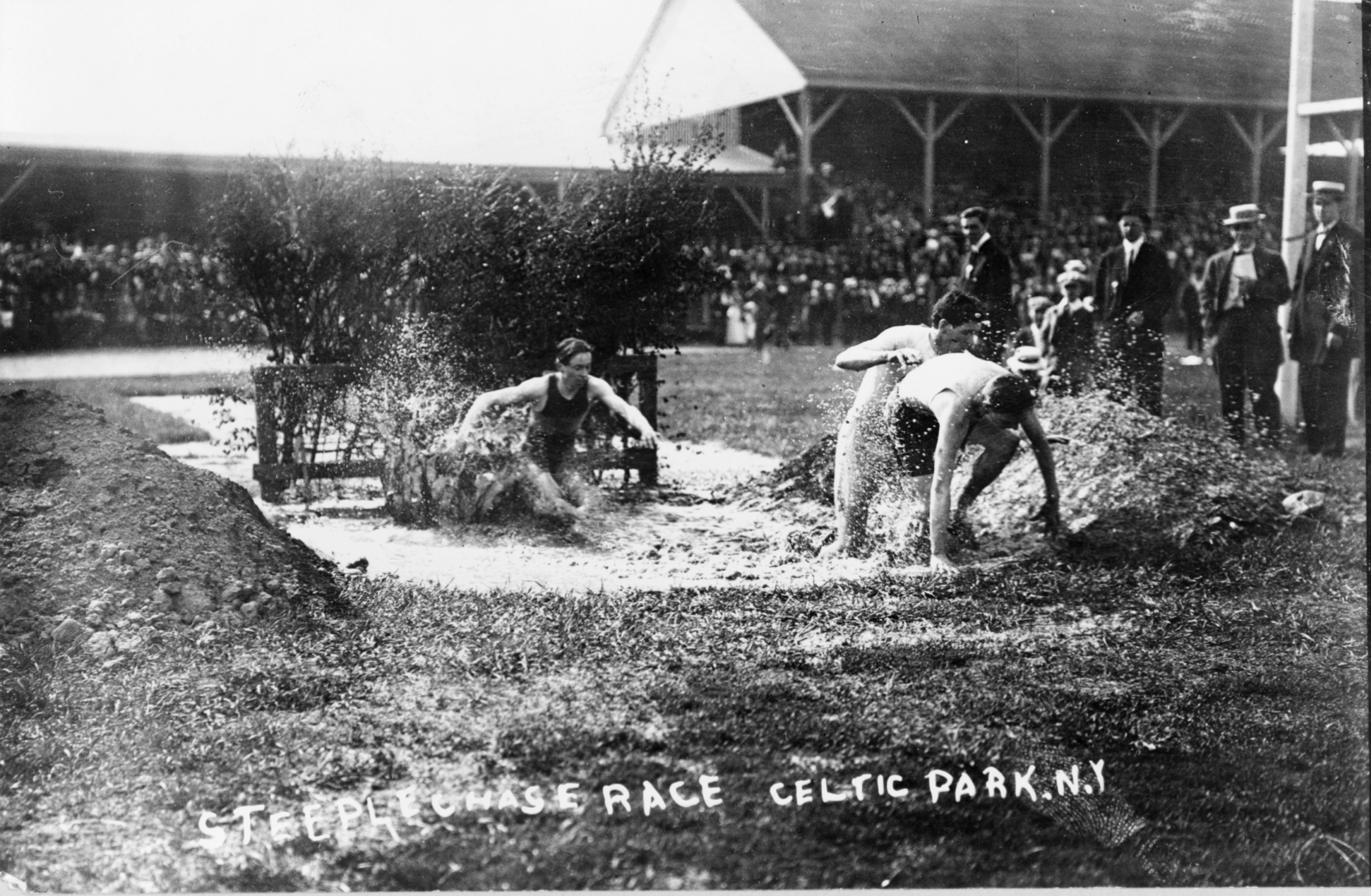 File steeplechase race celtic park n y from bain for Steeple chase
