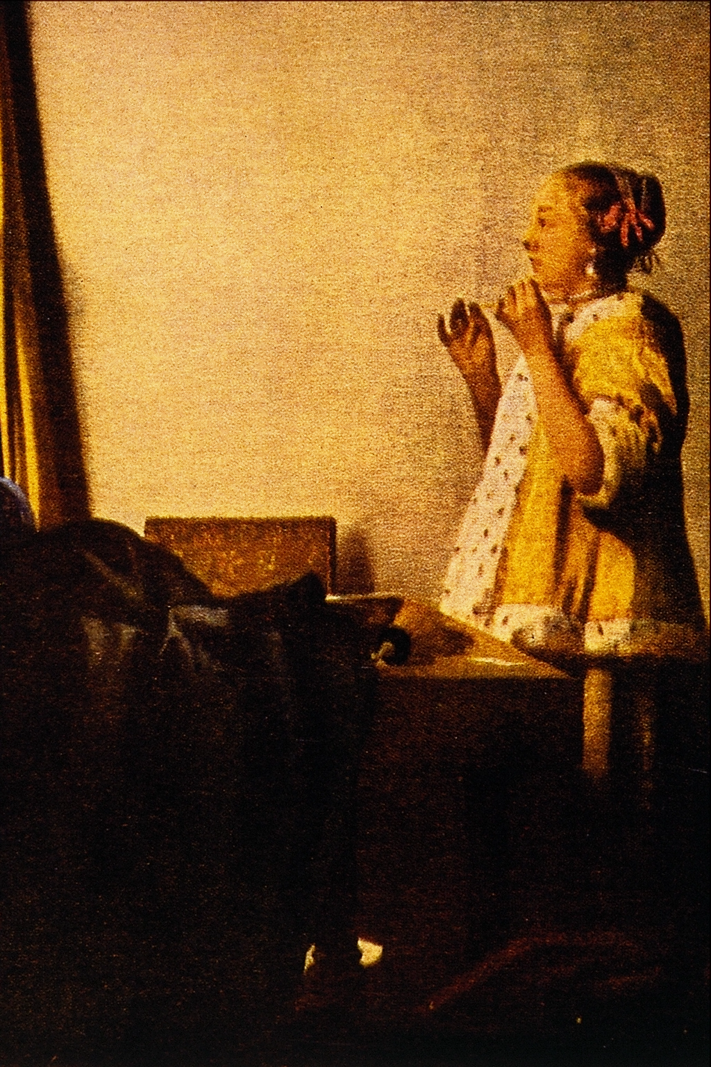 File:the Pearl Necklace  Jan Vermeer Van Delftg