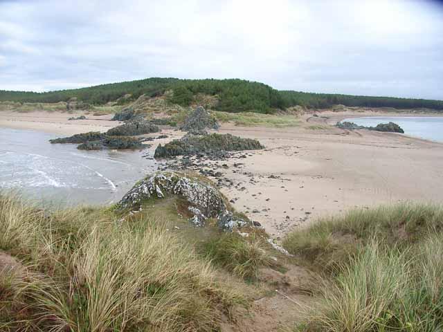 The isthmus, viewed from Llanddwyn Island. - geograph.org.uk - 226174