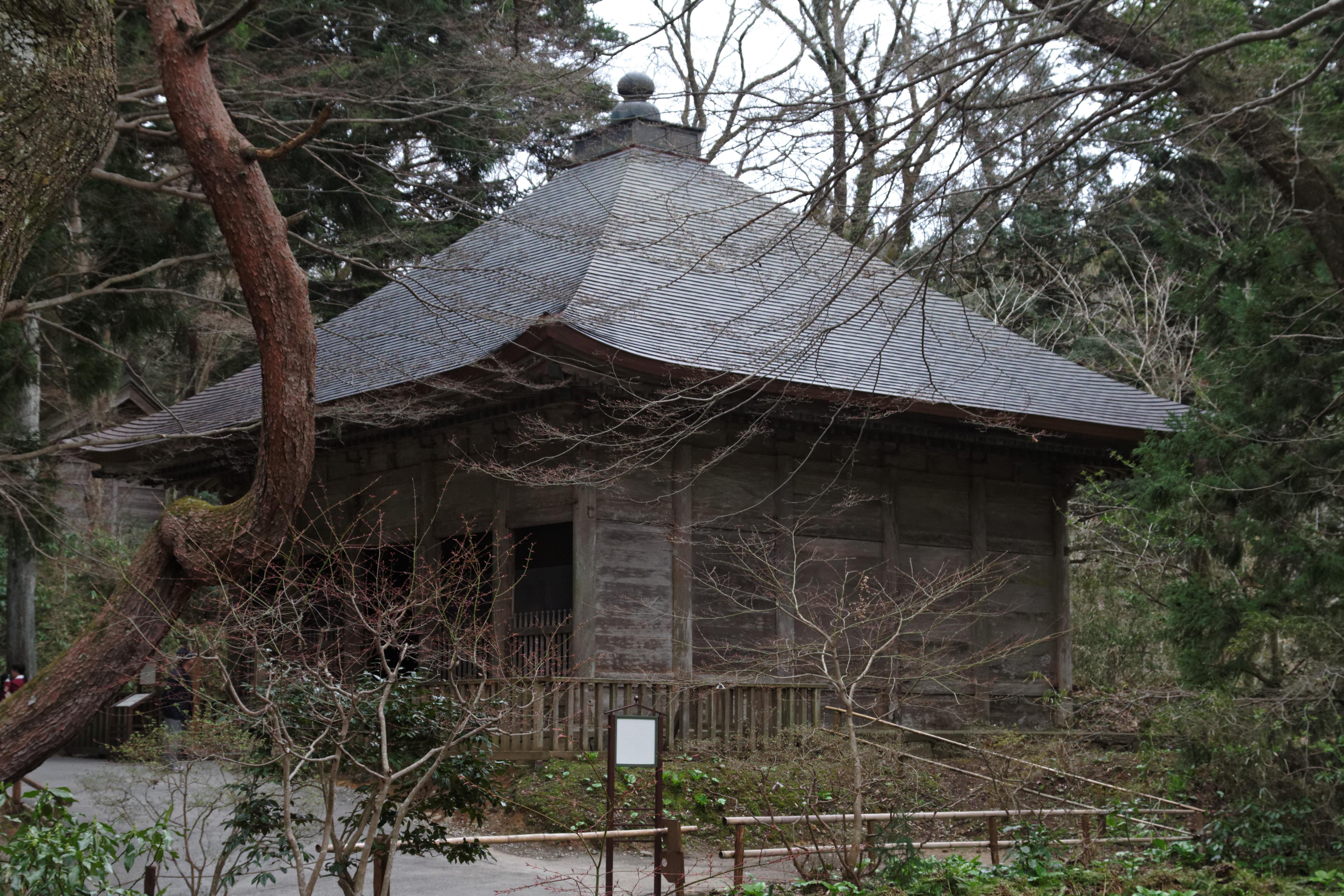 ファイル this building used to shelter the konjikido golden hall