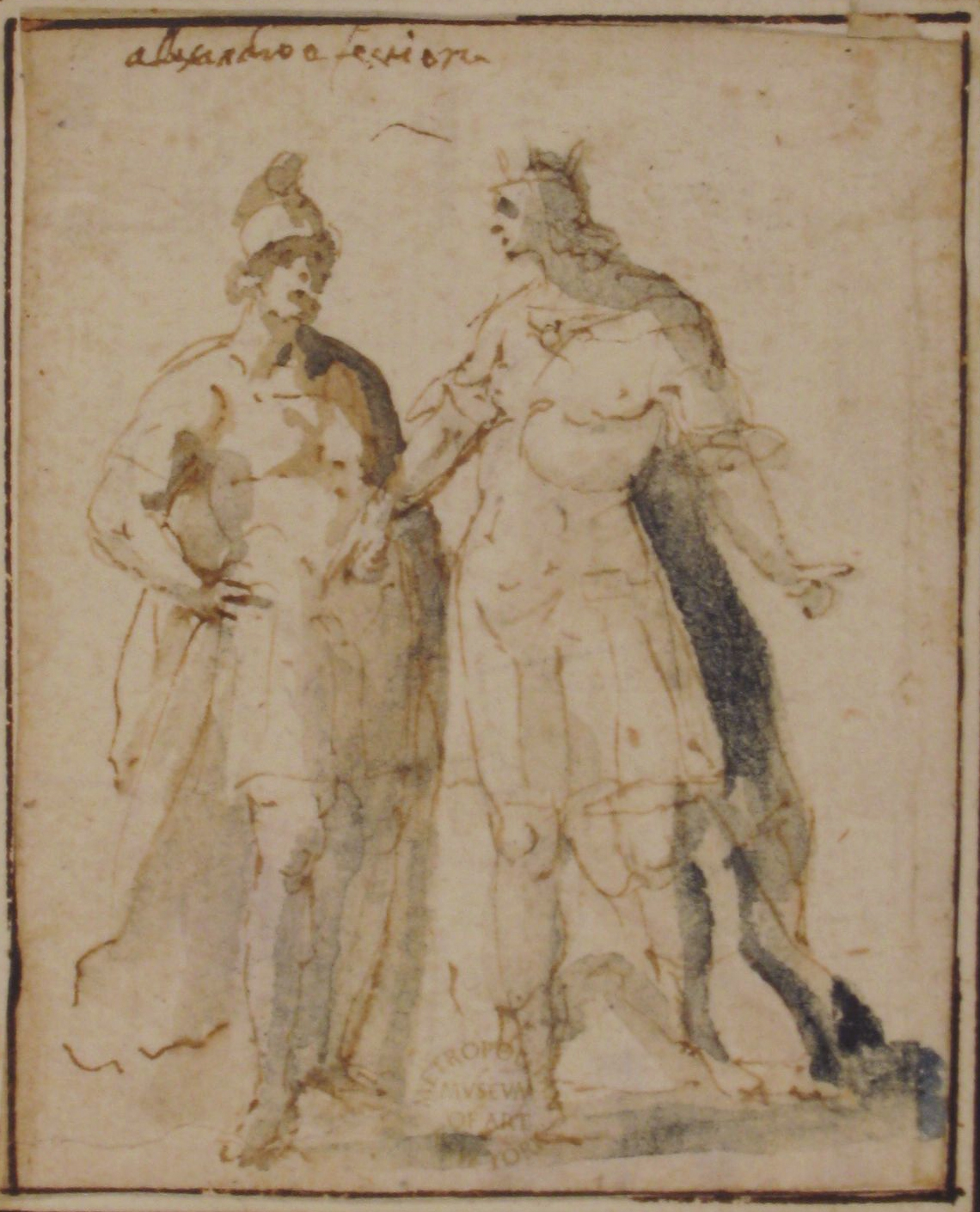File:Two Standing Male Figures in Antique Military Costume