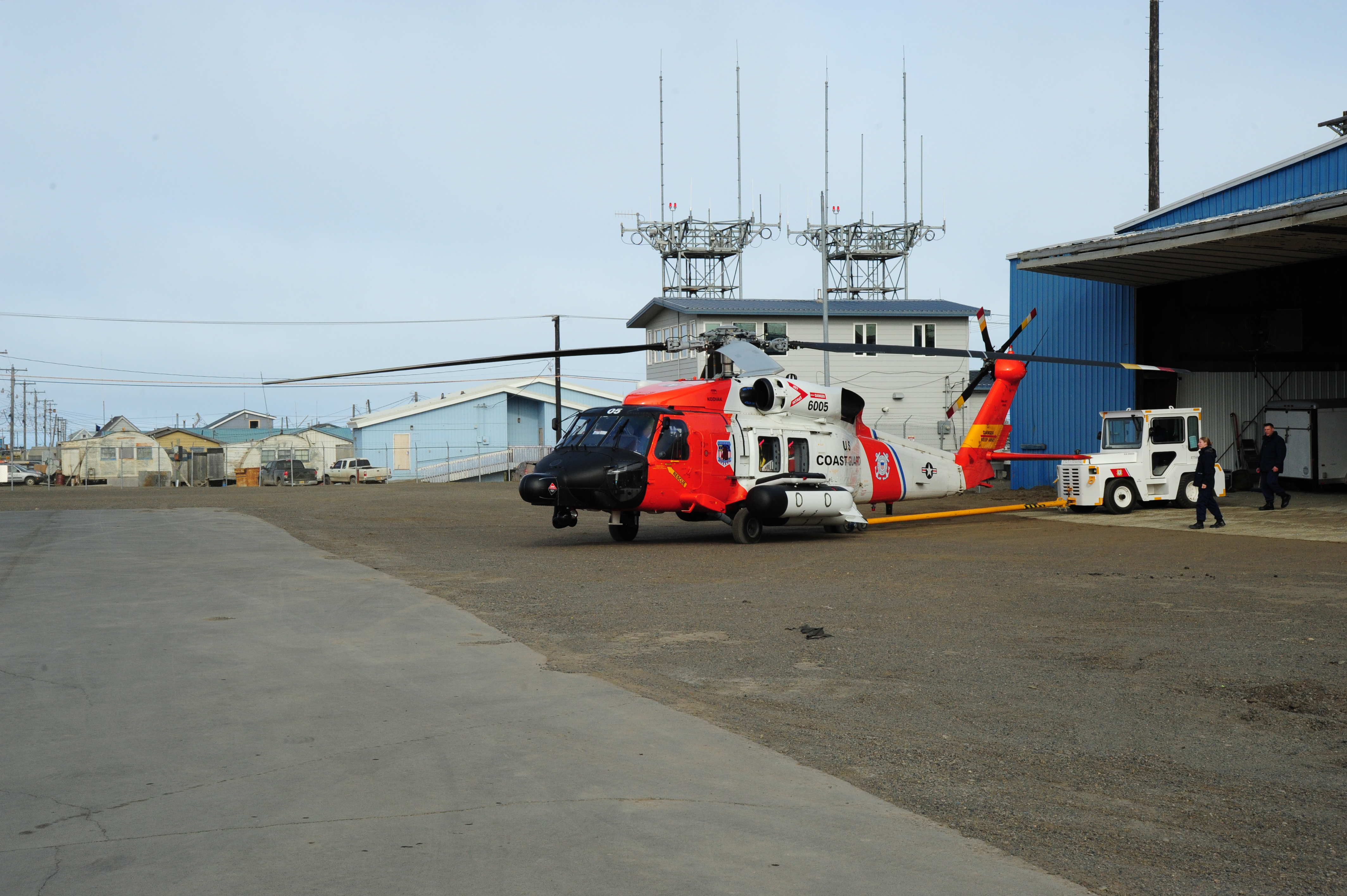 Coast Guard Station Oak Island Fire