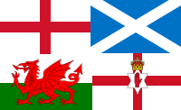A montage of UK subnational flags (England, Sc...