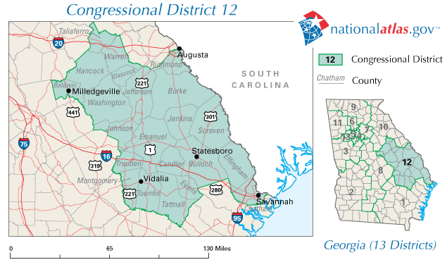 File United States House Of Representatives Georgia District 12 110th Congress Png