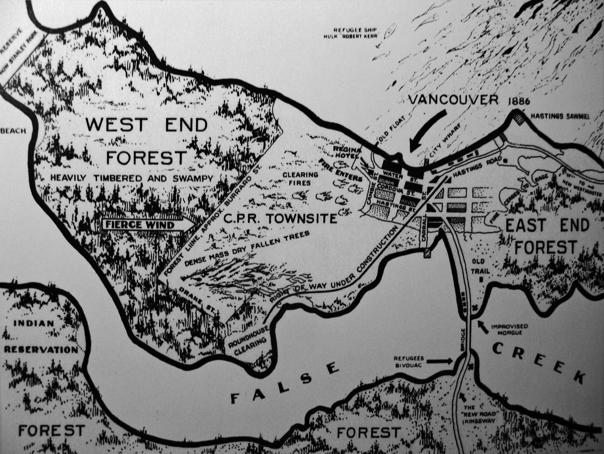 cool map of downtown Vancouver from 1886