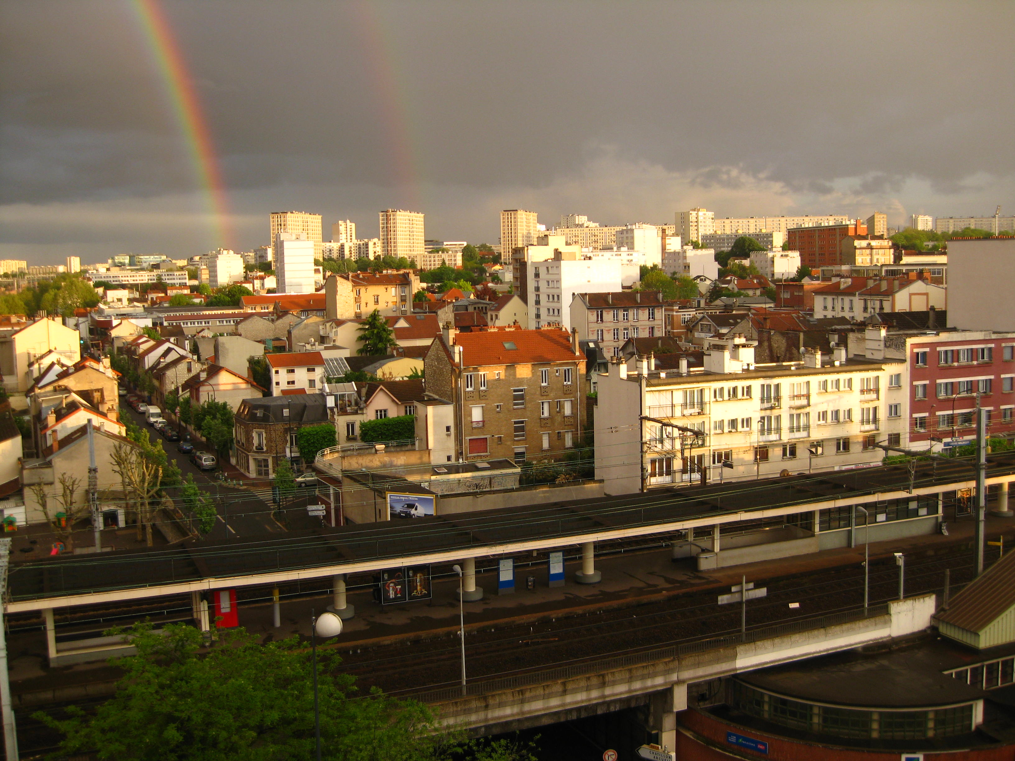 Say wut, Double Rainbow in my city... Vanves_Malakoff
