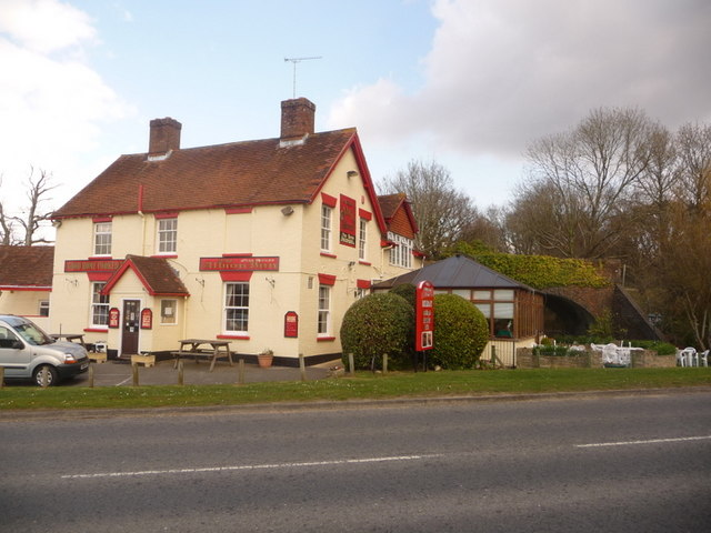 File:Verwood, the pub that crossed the road without moving - geograph.org.uk - 1225819.jpg