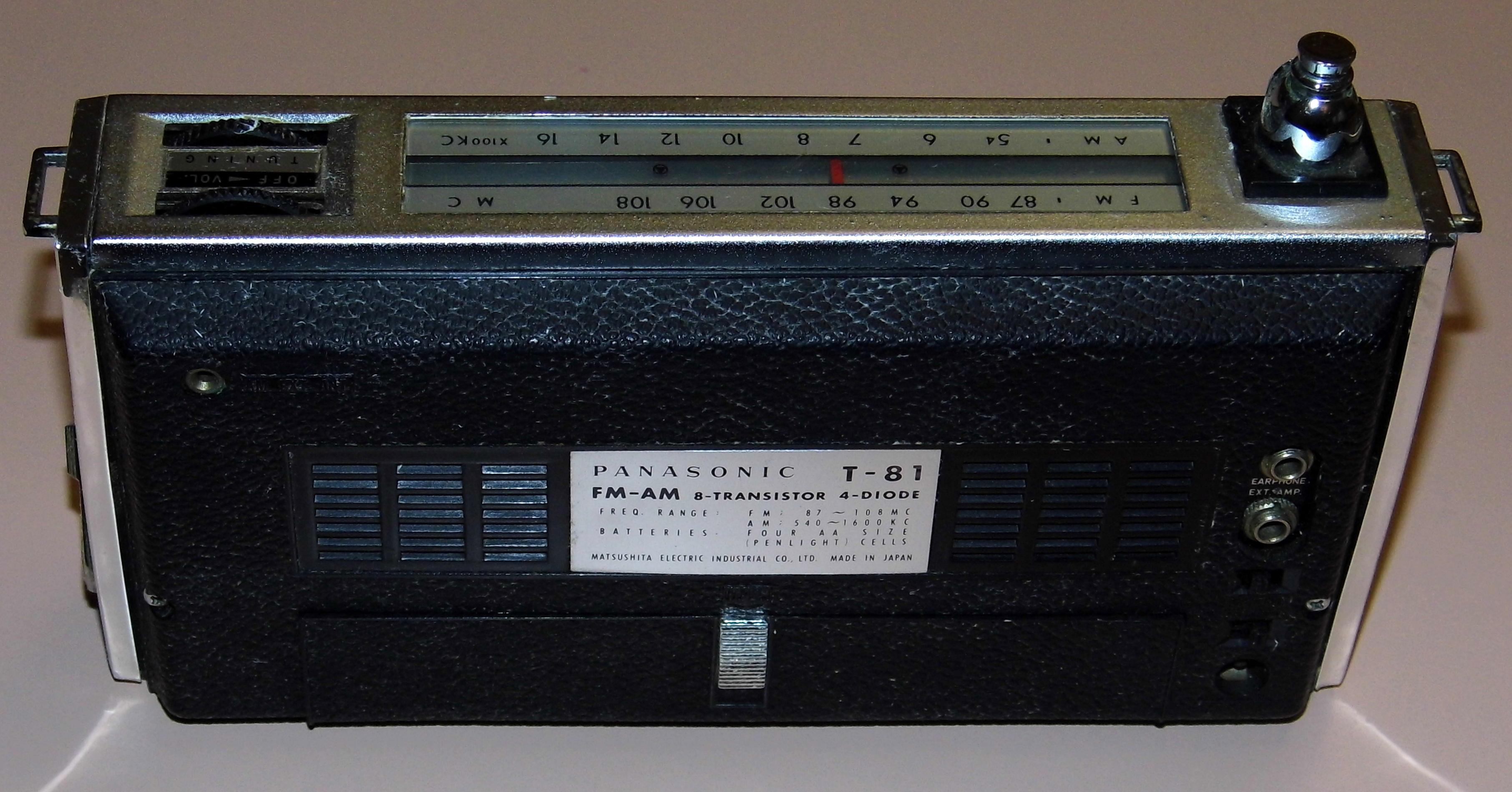file vintage panasonic 8 transistor radio model t 81 two band fm rh commons wikimedia org