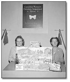 WCTU display booth at the Canadian National Exhibition in Toronto, 1945