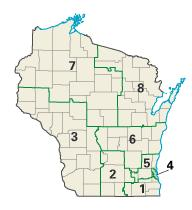 Wisconsin districts in these elections