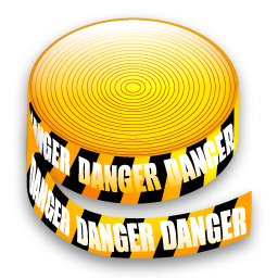 Warning tape icon