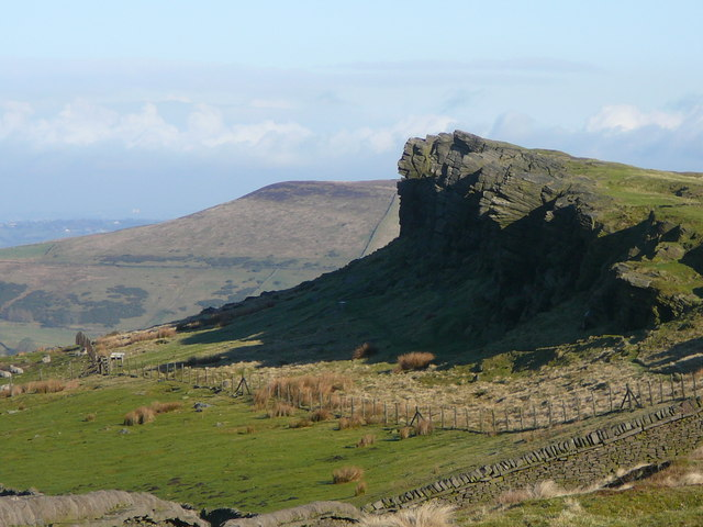 Windgather Rocks - View looking north - geograph.org.uk - 1623498
