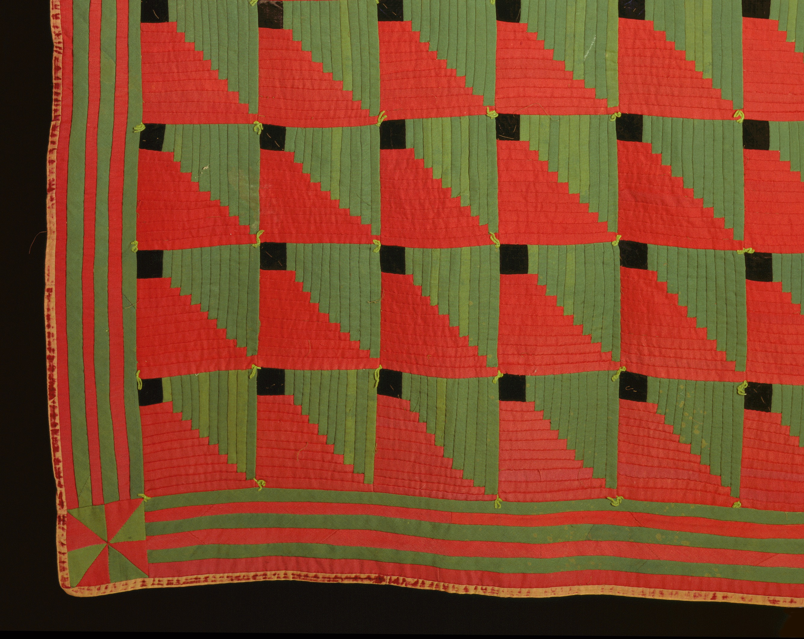 File Wool Patchwork Quilt In Log Cabin Style Jpg Wikimedia