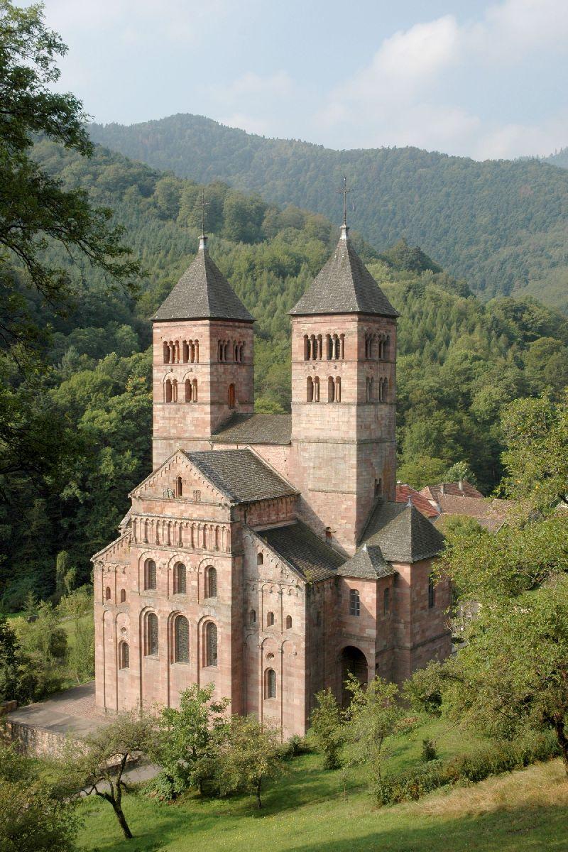 Murbach abbey wikipedia for Architecture romane