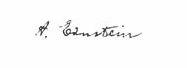 Albert Einsteins signature