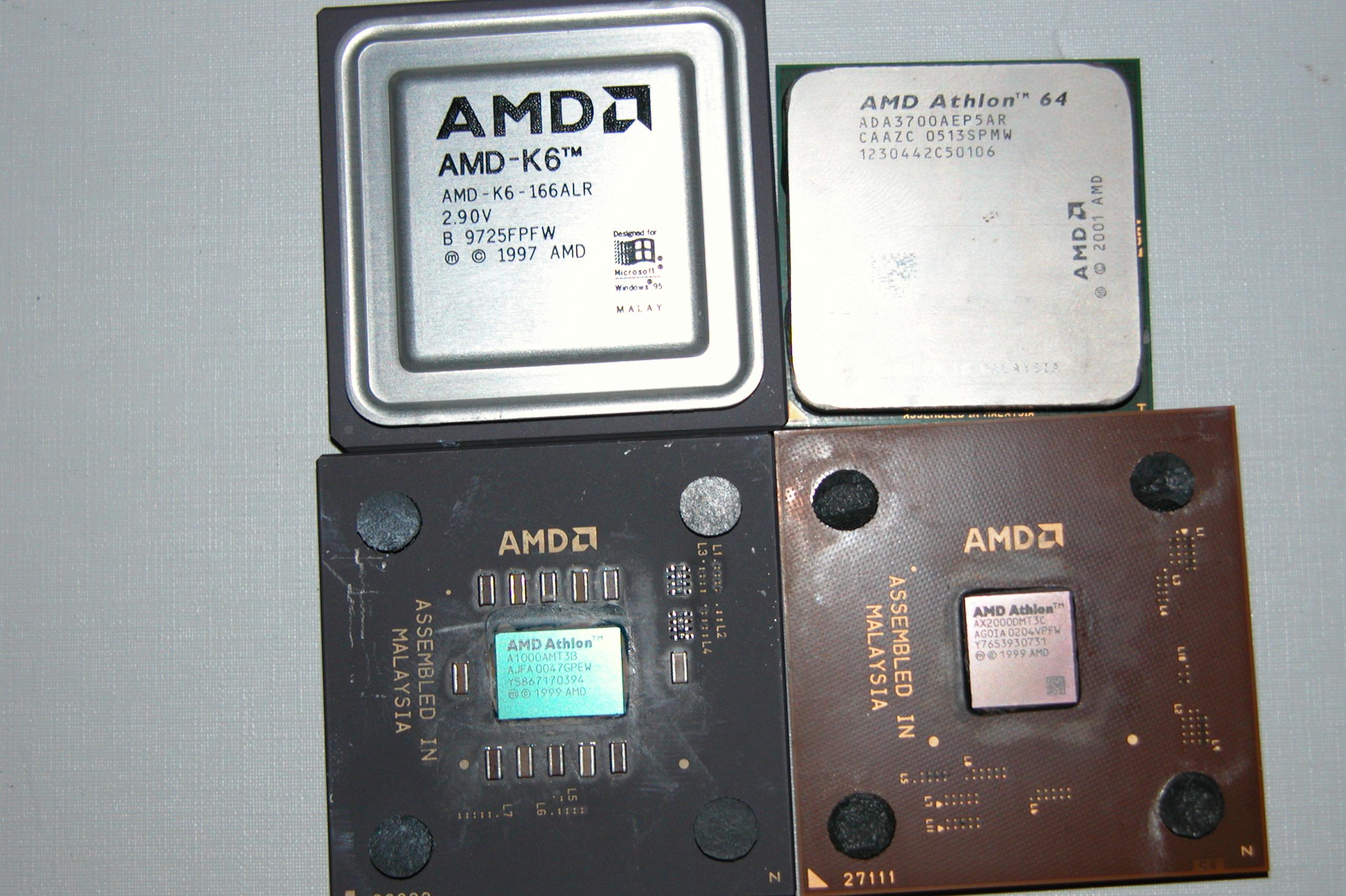 4 processeurs AMD