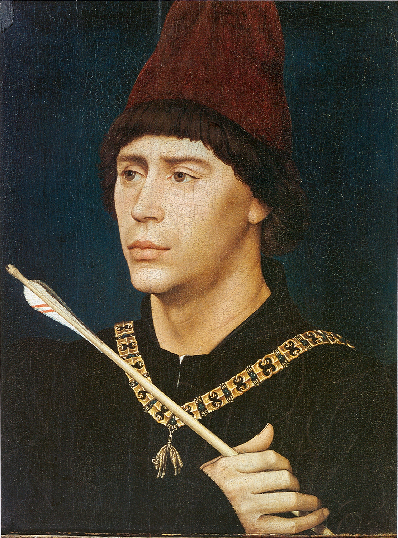 Rogier van der Weyden (1399/1400-1464). Portrait of Antoine of Burgundy.